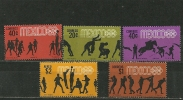 Jeux Olympiques Mexico 1968. 5 T-p Neufs ** - Zomer 1968: Mexico-City