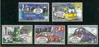 Hong Kong 1999 Public Road Transport Stamps Bus Tram Train Taxi Airport Express Plane - 1997-... Chinese Admnistrative Region