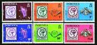 Dominique 383 / 88 Centenaire Du Premier Timbre De Dominique - Stamps On Stamps