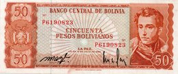 * BOLIVIA 100 PESOS BOLIVIANOS L. 1962 UNC - P 164A - Bolivia