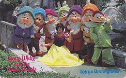 Télécarte Japon / 110-69726 - DISNEY Disneyland - BLANCHE NEIGE & Les 7 NAINS - SNOWWHITE & DWARFS - Japan Phonecard - Disney