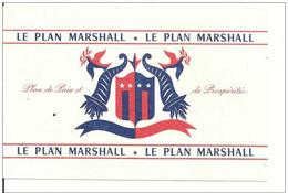 BUVARD LE PLAN MARSHALL - Buvards, Protège-cahiers Illustrés