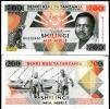 TANZANIA 200 SHILLINGS 1993 P 25 SIGN 11 UNC - Tanzania