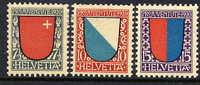 SWITZERLAND  1920 Pro Juventute Set Hinged Mint / *.  Michel 153-55 - Pro Juventute