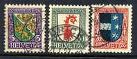 SWITZERLAND  1926 Pro Juventute 5, 10, 20 C. Used.  Michel 218-20 - Pro Juventute