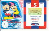 Disney Walt Disney ITALY Op Telefoonkaart (5) - Disney