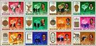 1978 North Korea Olympic Stamps Gymnastics Rowing Fencing Cycling Boxing High Jump Shooting - Shooting (Weapons)