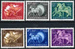 Luxembourg B180-85 Mint Hinged Semi-Postal Set From 1954 - Nuevos