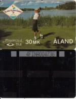 ALAND ISL.(GPT) - Golf, CN : 4FINA(5mm), Tirage 1000, 06/91, Used - Aland
