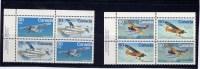 CANADA, 1982, # 970a-72a-, BUSH  AIRCRAFT,  PAIR OF  BLOCKS  UL      M NH - Blocs-feuillets
