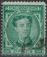 Espagne - 1876 - Y&T N° 168 - Oblitéré - Oblitérés