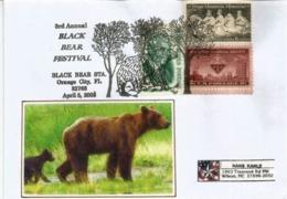 USA. Black Bear Festival.    Obliteration Speciale Illustree De Orange City. Floride, Adressée Au Mexique - Ours