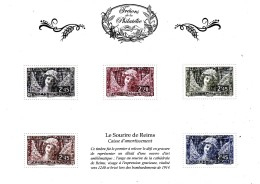 France 2014** Trésors De La Philatélie / Le Sourire De Reims / Tirage Limité - Beeldhouwkunst