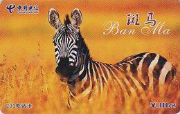 Télécarte Chine - ZEBRE - ZEBRA Phonecard - Tier Telefonkarte - 31 - Chine