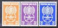 Malaya 102-4   *  W.H.O. - Federation Of Malaya