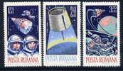ROMANIA 1965 Manned Space Flight Set  MNH / **.  Michel 2427-29 - 1948-.... Republics