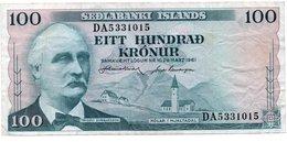 * ICELAND - 100 KRONUR 1961 UNC - P 44 - Islande
