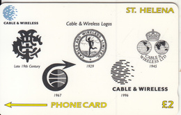 ST. HELENA ISL.(GPT) - Cable & Wireless Logos, CN : 327CSHD, Tirage 1200, Used - St. Helena Island