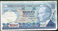 Billet De TURQUIE De 500 Lirasi - Turquie