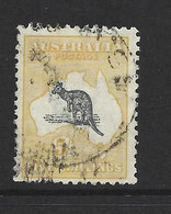 Australia 1915 - 1928  5 Shilling Yellow And Grey  Kangaroo 3rd Wmk Sound U - 1913-48 Kangaroos