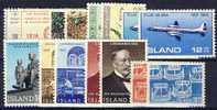 #A111. Iceland 1966-69. 15 Different. MNH(**) - Islande