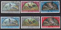 Série Complète Timbres OIseaux - Pigeon Huppe Coq - Sharjah YT 28/33 - Bird Vogel - Columbiformes