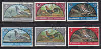 Série Complète Timbres OIseaux - Pigeon Huppe Coq - Sharjah YT 28/33 - Bird Vogel - Tauben & Flughühner