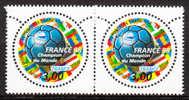 """""""France´98"""". Coupe Du Monde De Football (VI). T.-P. De Même Date Avec La Mention """"Champion Du Monde FR - 1 Paire - N** - Neufs"""