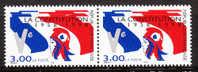 40e Anniversaire De La Constitution De La Ve République - 1 Paire - N** - Neufs