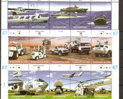 United Nations 2010 TRANSPORT MILITARY 15V MNH** - Transports