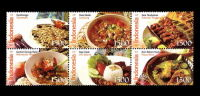 Indonesia 2009 - Traditional Foods Food DIshes Gorontalo Lampung Cuisine Stamps MNH - Food