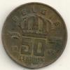 Belgium Belgique Belgie Belgio 50 Cents FL   KM#149.1  1962 - 03. 50 Centimes