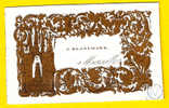 Ca1850 CARTE VISITE PORCELAINE J BLANCHARD MARSEILLE Dép 13 PORSELEINKAART Porceleinkaart P249 - Cartoncini Da Visita