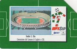 *ITALIA: STADI D'ITALIA '90 - CAGLIARI* - Scheda SIP Usata - Public Special Or Commemorative
