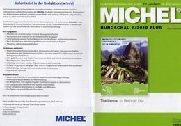 Rundschau MICHEL Briefmarken 8/2019-plus Neu 6€ New Stamps World Catalogue/magacine Of Germany ISBN 978-3-95402-600 - Temas
