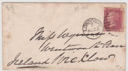 GRANDE BRETAGNE - 1870 - YVERT N° 26 (PLANCHE 140) SUR LETTRE DE LONDON POUR L'IRLANDE - Covers & Documents