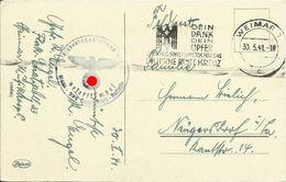 AK Pfingsten Whitsun Blumen Vase Feldpost Weimar 1941 #30 - War 1939-45