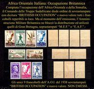 Italia-F00170 (1941 - A.O.I:- Occ. Britannica - NON EMESSI - (++) MNH - Tutti Firmati Alberto Diena E G. Chiavarello. - Africa Orientale