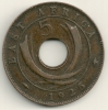 East Africa  5 Cents  KM#18  1925 - British Colony