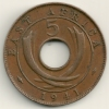 East Africa  5 Cents  KM#25.1  1941 I - British Colony