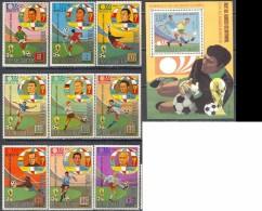 2072 Football Soccer WM Cup Guinea Equatorial 9+S/s Set MNH ** Imperf Imp 11ME - Coppa Del Mondo