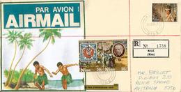 Lettre RECOMMANDÉE / REGISTERED, De L´ILE DE NIUE,Océan Pacifique, Adressée En Australie - Niue