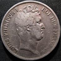 5 Francs 1831 K, Tiolier, Tranche En Creux, TTB - J. 5 Francs
