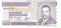 BURUNDI - 100 FRANCS 2004 Unc - Burundi