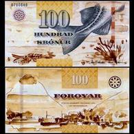 FAEROE ISLAND 100 KORNUR P 25 UNC - Billetes