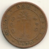 Ceylon   1   Cent   KM#92   1870 - Sri Lanka