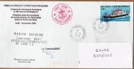 TAAF PLI KERGUELEN TP 330 Obl. 3 9 2002  Cachets CMA CGM Marion Dufresne. Signé. Voir Verso.. - Terres Australes Et Antarctiques Françaises (TAAF)