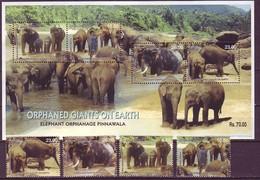 Sri Lanka 2003 Elephants 4v+1 MNH** - Elephants