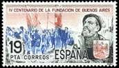 España S 2584 ** Juan De Garay. 1980 - 1931-Hoy: 2ª República - ... Juan Carlos I