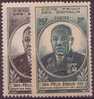 COTE DES SOMALIS N° 262 Et 263** Neuf Sans Charniere - Côte Française Des Somalis (1894-1967)